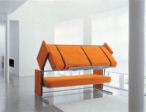 coolest couch cool couch transforms into bunk beds gearfuse