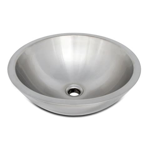 Stainless Steel Sink Bowl by Ticor S2095 Vessel Stainless Steel Bathroom Sink