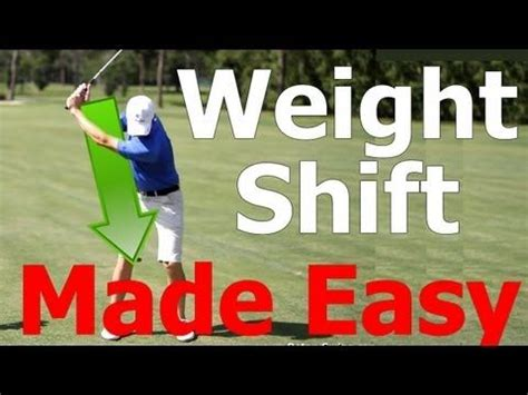 swing lessons golf swing lesson weight shift transfer made easy