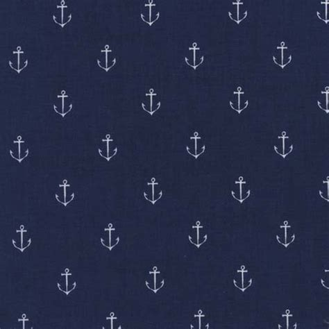 fabric pattern anchor navy blue anchors away fabric michael miller