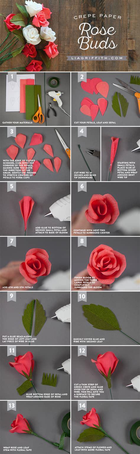 paper flower bud tutorial handmade crepe paper rose buds tutorial