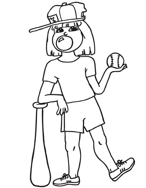 baseball girl coloring page index of coloringpages baseball coloring pages