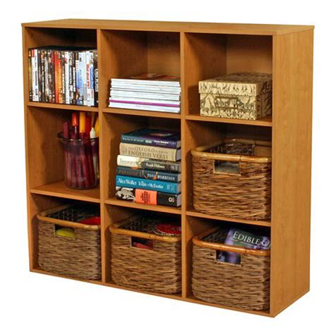 shop venture horizon oak 9 shelf bookcase at lowes