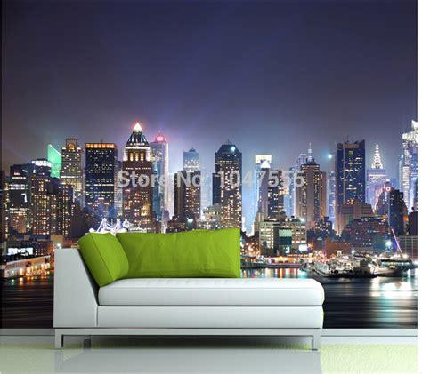 3d Mural Wallpaper City Evening Landscape Background Wa manhattan 3d papel de paede new york city large mural