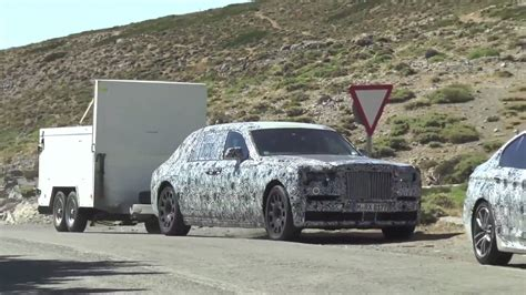 Rolls Royce A 2018 Rolls Royce Phantom Spied Towing A Cargo Trailer At