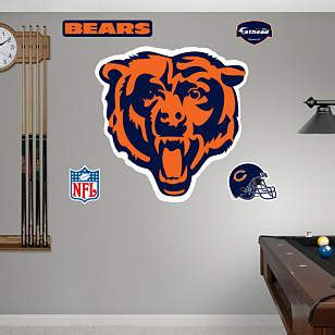 chicago bears home decor chicago bears logo wall decal shop fathead 174 for chicago