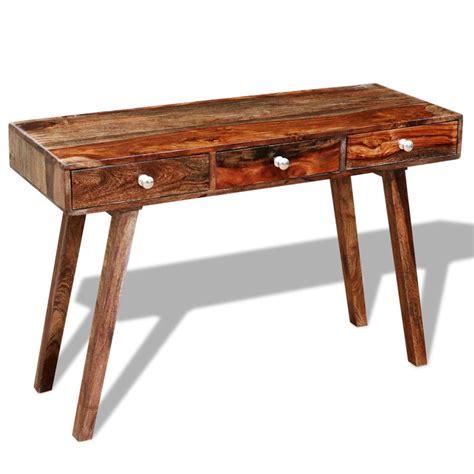 tavolo console tavolo console in legno sheesham vintage 76 cm vidaxl it