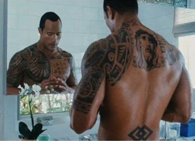dwayne johnson tattoo making 2 angelina jolie