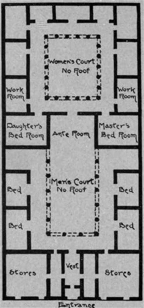 ancient greek house plan free home plans floor plans for greek revival houses