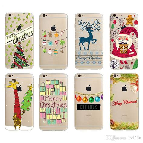 2017 merry phone for iphone 6 6s plus 5 5s se 7 7 plus happy new year santa claus