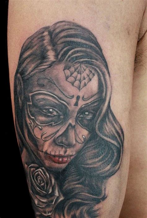 day of the dead couple tattoos day of the dead sleeve creativefan