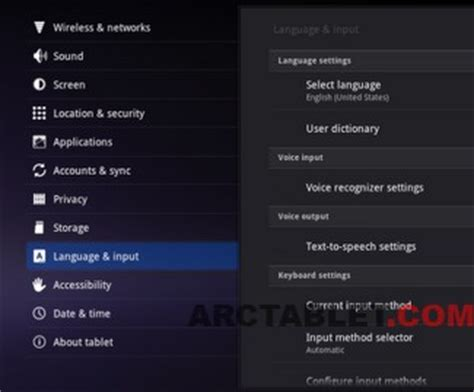 android language setting changing language on cube u30gt forum arctablet news