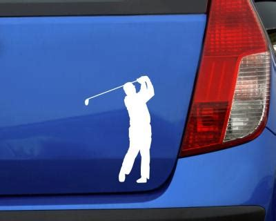 Autoaufkleber Folienaufkleber by Autoaufkleber Golfspieler Swing Aufkleber 25 Farben