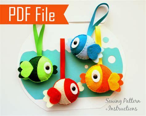 crafts pdf diy plush felt fish sewing pattern pdf felt fish plush