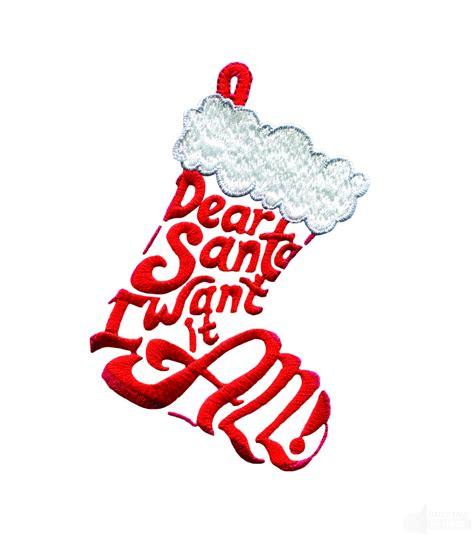 stocking designs dear santa stocking embroidery design