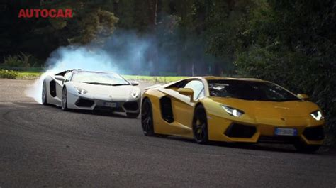 Drag Race Lamborghini Drag Race Lamborghini Aventador Coupe And Roadster