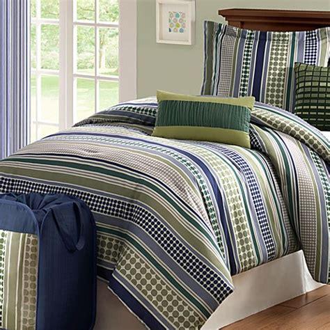green striped comforter stipple stripe green comforter set bed bath beyond