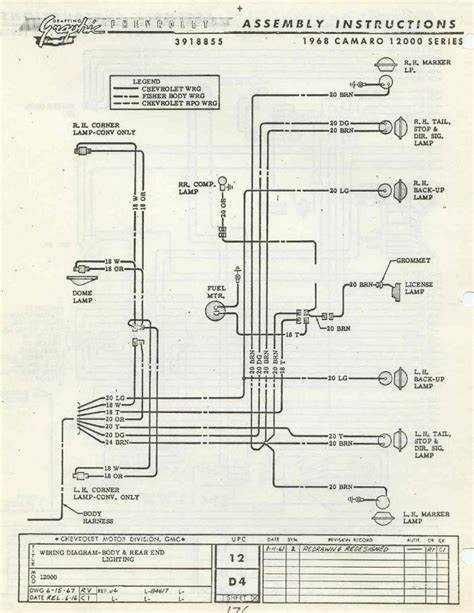 1968 camaro headlight wiring diagram 1968 camaro fuse box