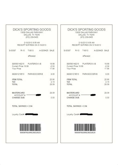 digital receipts template store receipt template best template exles