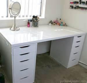 ikea makeup organizer video makeup vanity and storage peek ponder