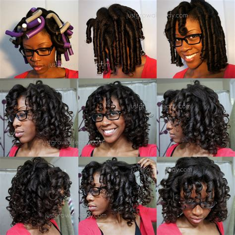 flexi rod hairstyles relaxed hair flexi rod set just grow already