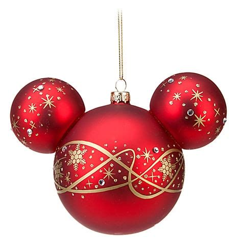 diy mickey head ornament merry christmas pinterest