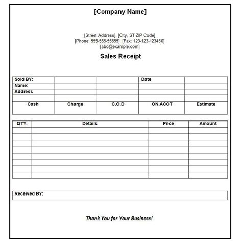 test receipt word template receipt of payment receipt format sylvan learning center