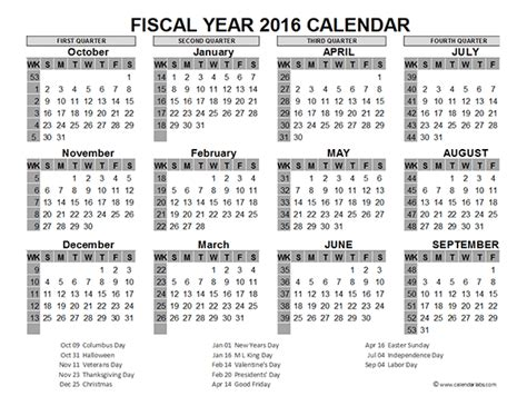 printable financial year calendar australia 2016 fiscal year calendar usa 06 free printable templates