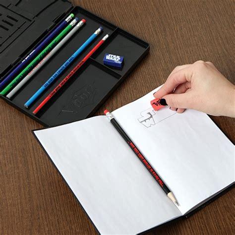 sketchbook and pencils wars vader pencil and sketchbook set