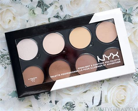 Nyx Contour Kit nyx cosmetics highlight contour pro palette swatches