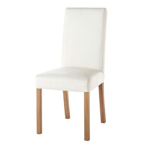 chaise a chaise imitation cuir blanc rotterdam maisons du monde