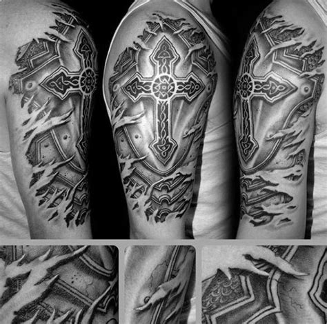 badass cross tattoos 50 badass cross tattoos for manly design ideas