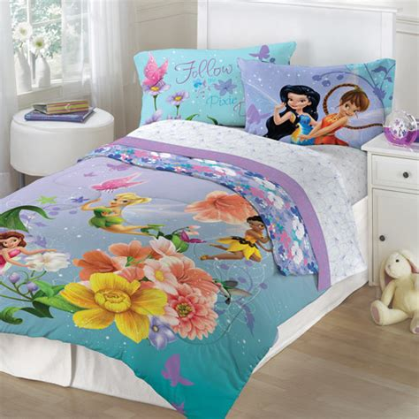 walmart full comforter disney tinkerbell fairies fantasy floral twin full bedding