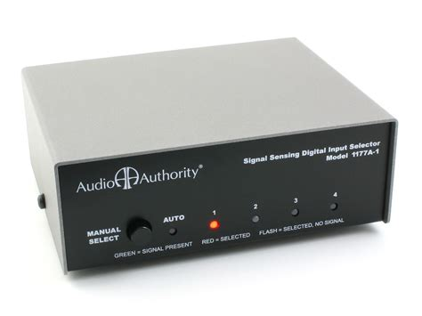 Switch Audio audio authority 1177a 1 toslink coaxial digital switcher switch automatic spdif ebay