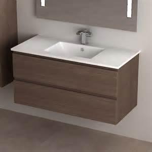 meuble de salle de bain cardo en noyer