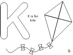 dltk kite coloring page fun learning printables for kids