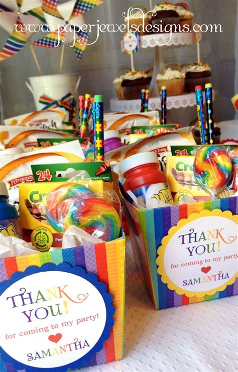 Birthdays Giveaways Ideas - best 25 rainbow party favors ideas on pinterest birthday party favors party bags