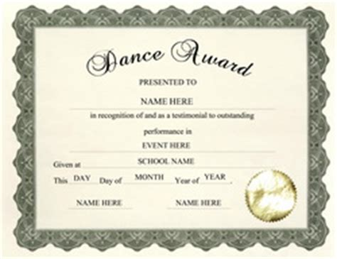 templates for dance certificates free award templates for elementary school thepaperseller