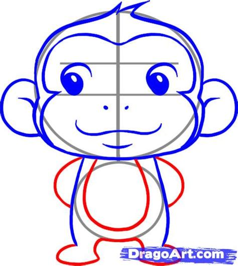 Monkey Drawing Step By Step