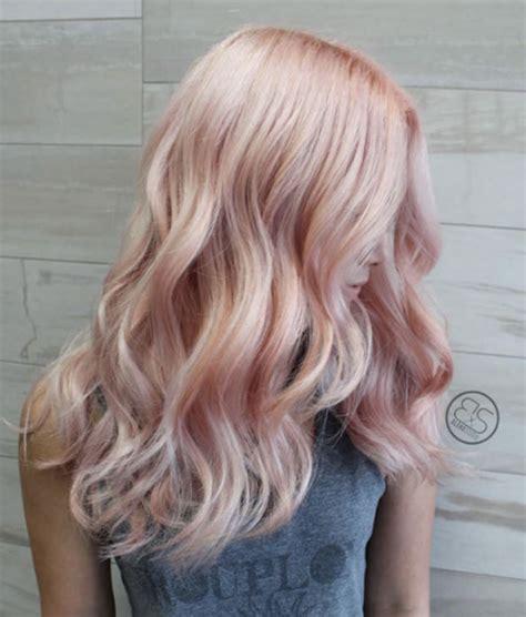 rose gold blonde hair color 40 trendy rose gold hair color ideas rose gold and hair