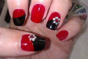 Simple diy nail art designs easy red and black nail