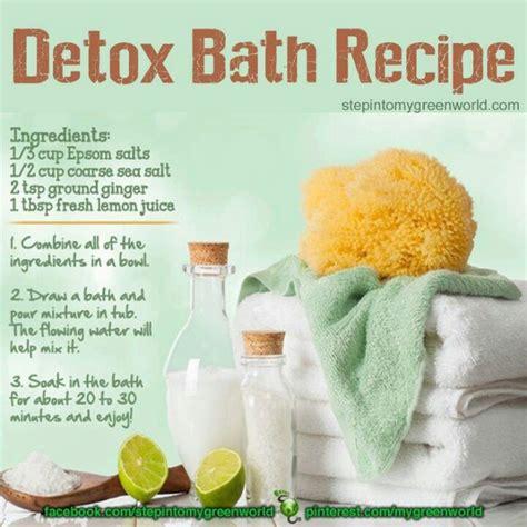 Detox Bath Epsom Salt Recipe by 73 Best Detox Images On Hacks