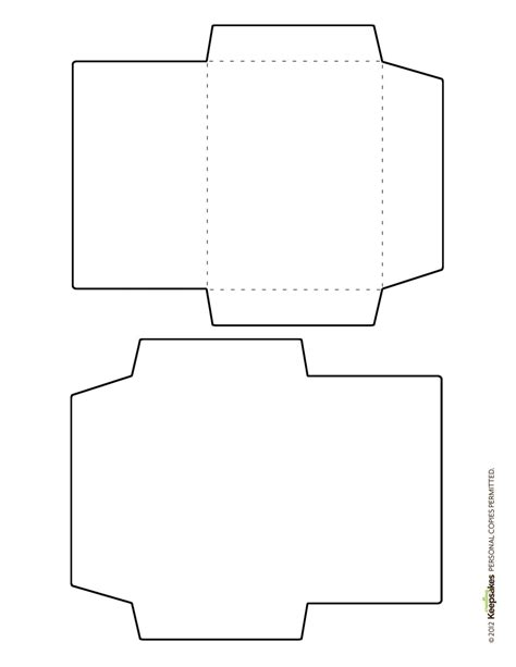 free envelope template featured in the sept oct 2012 issue