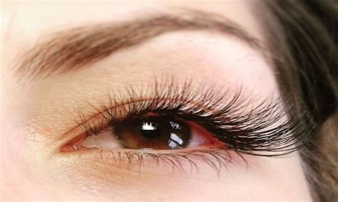 Silk Eyelash Extension mink or silk eyelash extensions day spa groupon