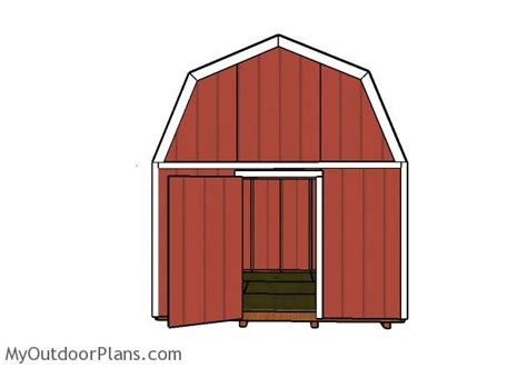 exterior gambrel roof shed plans free and gambrel roofing 12x12 gambrel shed roof plans myoutdoorplans free