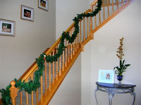 banister garland hang your holiday garland from banister bindings in