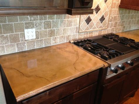 Staining Concrete Countertops by Colored And Stained Concrete Countertop Rustic Houston