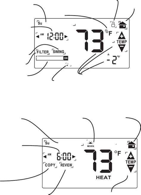 swing setting on thermostat page 3 of ritetemp thermostat 8030c user guide