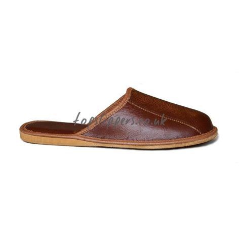 house slippers buy brown leather house slippers mules for men model no 332j