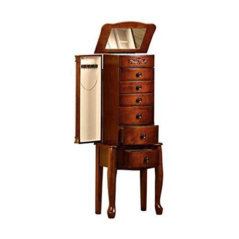 dark cherry jewelry armoire quot morgan quot dark cherry solid wood 6 drawer jewelry armoire
